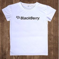 Áo thun nam cổ tròn trắng trơn phong cách Backberry