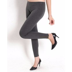 quần legging kéo khóa chân