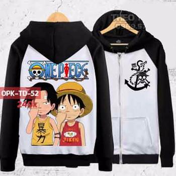 Áo Khoác One Piece Luffy Và Ace Chibi