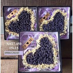 hộp trái tim lavender