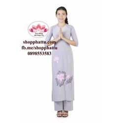 Áo dài đi chùa - quần áo thời trang Phật Tử