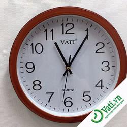 Đồng hồ treo tường viền giả gỗ đẹp - Chất lượng cao