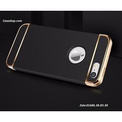 ôp lưng 3 mảnh bóng đầu iphone 5 5S đen