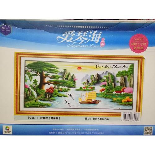 Tranh thêu chữ thập Thuận buồm xuôi gió 6046-191x104cm