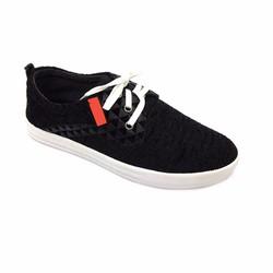 Giày lười cột dây màu đen sang trọng thời trang