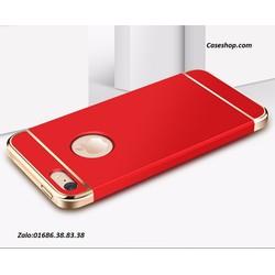 ôp lưng 3 mảnh bóng đầu iphone 5 5s đỏ