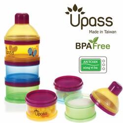 Hộp chia sữa 3 ngăn UPASS - Nhựa an toàn tiện lợi