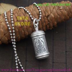 Mặt dây chuyền khắc hình Phật và chú Om Mani Padme Hum...