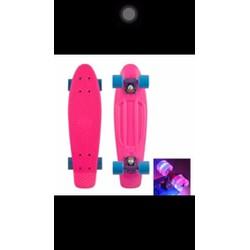 Ván trượt nhựa Skateboard Penny lớn Bánh xe có đèn LED màu ngẫu nhiên