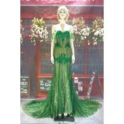 Váy cưới đuôi cá xanh rêu da