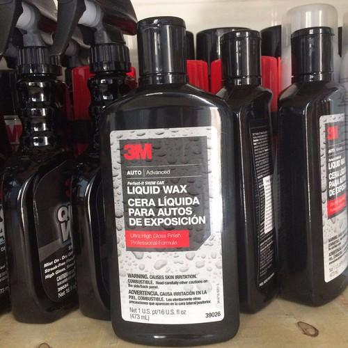 Wax phủ bóng bảo vệ bề mặt sơn ô tô 3M™ Lquid Wax 473ml