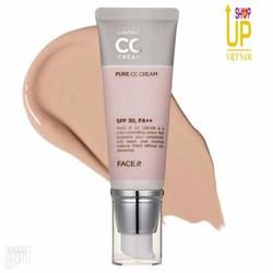 Kem CC Che Khuyết Điểm Pure Cream   TheFaceShop