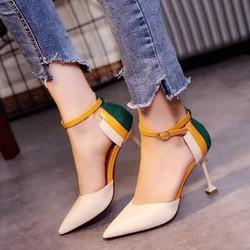 Giày cao gót gót phối màu T52