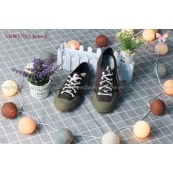 VNW57001Brown - GIÀY THỂ THAO THỜI TRANG CHO NỮ