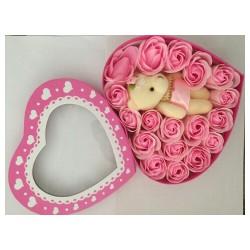 Hoa sáp thơm hộp trái tim 18 bông quà tặng tuyệt vời cho người thân