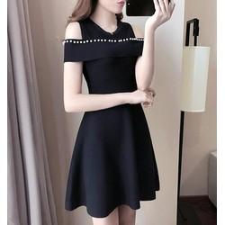 Đầm xòe khoét vai thời trang