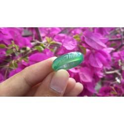 Nhẫn đá cẩm thạch khắc tên theo yêu cầu