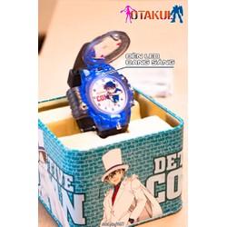 Đồng hồ Conan có Led - Màu xám trong + 3 Pin + Tua Vít