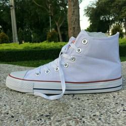 giày nữ trắng cổ cao