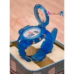 Đồng hồ Conan có Led - Màu xanh trong + 3 Pin + Tua Vít