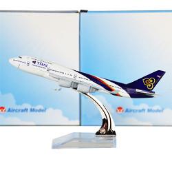 MÔ HÌNH MÁY BAY SẮT 16CM KÈM ĐẾ MICA - THÁI AIRWAYS 747 - THÁI LAN