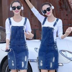 Đầm Jean Yếm Wash Rách