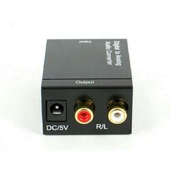 Bộ chuyển âm thanh TV optical to audio AV ra của amply tặng Cáp quang
