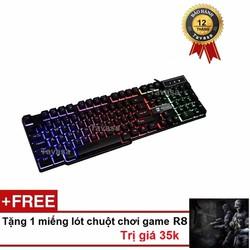 Bàn phím giả cơ chuyên Game Led R8 1822 - 2017 - Tặng lót chuột R8