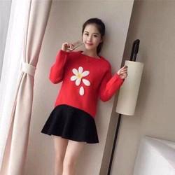 áo len hoa nhài cực xinh