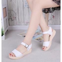 Giày sandal nữ quai ngang đế cao su đúc