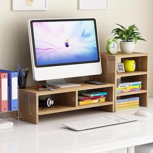 Kệ gỗ để màn hình 2 tầng,có kệ phụ bên cạnh - 4347464 , 10553708 , 15_10553708 , 420000 , Ke-go-de-man-hinh-2-tangco-ke-phu-ben-canh-15_10553708 , sendo.vn , Kệ gỗ để màn hình 2 tầng,có kệ phụ bên cạnh