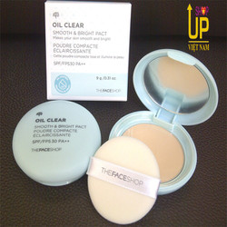 Phấn phủ kiềm dầu The Face Shop Oil Clear Smooth  Bright Pact SPF30
