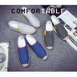 Giày lười nam vải jeans hot 2018