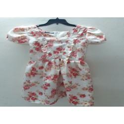 Đầm suông cột dây họa tiết hoa Bảo Hân Fashion