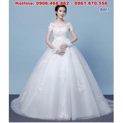 váy cưới cho cô dâu bụng bầu B001