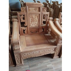 Bộ bàn ghế giả cổ kiểu sơn thủy gỗ gõ đỏ , cà te bộ 2m4