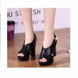 Giày cao gót 10cm quai chéo