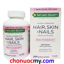 Viên Uống Đẹp Da Tóc Và Móng Nature Bounty Hair, Skin and Nails 250v