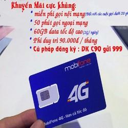 SIM 4G MOBIFONE- NGHE GỌI LƯỚT WEB CỰC ĐÃ