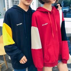 Áo hoodie tay phối siêu cute