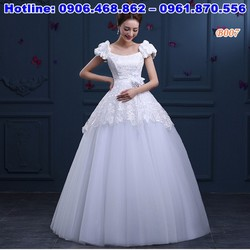 váy cưới dành cho cô dâu có bầu B007