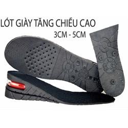 Bộ 2 miếng lót giày tăng chiều cao đệm khí tăng 3-5cm