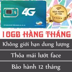 SIM 4G VIETTEL 10GB