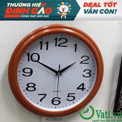 đồng hồ treo tường viền giả gỗ - Chất lượng cao
