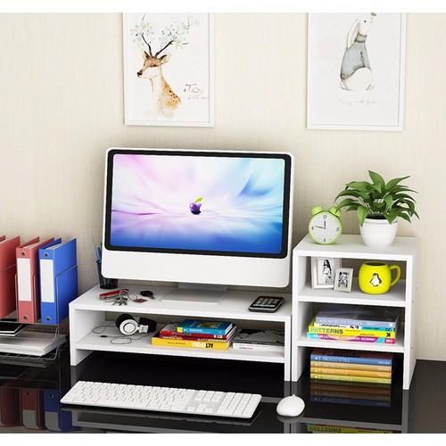 Kệ gỗ để màn hình 2 tầng, có ngăn tủ phụ bên cạnh - 10658267 , 10590227 , 15_10590227 , 500000 , Ke-go-de-man-hinh-2-tang-co-ngan-tu-phu-ben-canh-15_10590227 , sendo.vn , Kệ gỗ để màn hình 2 tầng, có ngăn tủ phụ bên cạnh