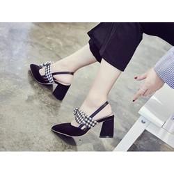 Giày sandal cao gót nơ