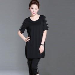 Đồ bộ mặc nhà màu đen đủ size quần lửng