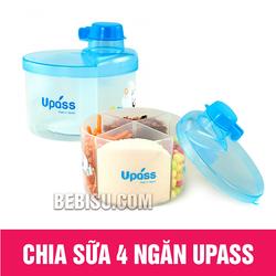 Hộp chia sữa tròn 4 ngăn Upass