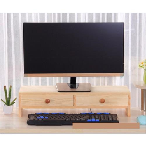 Kệ gỗ để màn hình có 2 ngăn tủ màu gỗ - 10658318 , 10590383 , 15_10590383 , 500000 , Ke-go-de-man-hinh-co-2-ngan-tu-mau-go-15_10590383 , sendo.vn , Kệ gỗ để màn hình có 2 ngăn tủ màu gỗ
