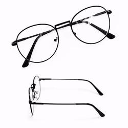 Mắt kính ngố gọng cận Nobita thời trang - Đen